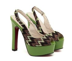 go green! even with shoes? @ http://trendy-stilettoheels.blogspot.com