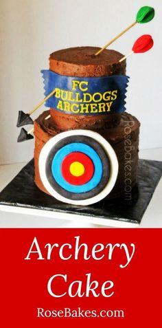 Archery Cake | RoseBakes.com
