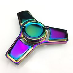 EDC Toys Professional Tri-Spinner Fidget Toy Pattern Hand Spinner Torqbar Brass Fidget Spinner  and ADHD Children Adults Toy