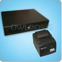 Square Stand Hardware Bundle TSP143U Receipt Printer and Cash Drawer TSP100 USB