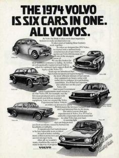 """Volvo """"Is Six Cars In One"""" Collectible (1974)"""