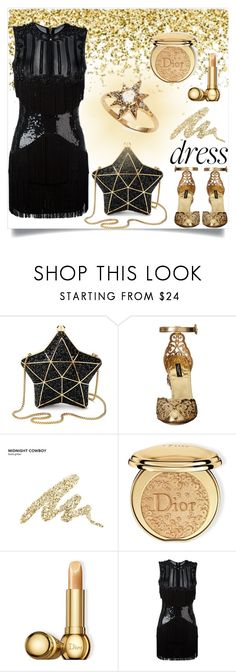 """Gold Fever (06.12.2016)"" by gabby6886 ❤ liked on Polyvore featuring Aspinal of London, Dolce&Gabbana, Urban Decay, Christian Dior, Balmain and Anzie"