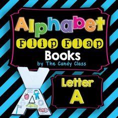 Alphabet Flip Flap Book- Letter A (Interactive Notebook Friendly)Free FREEBIE!!!