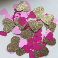 Confetti!! I love pink and gold glitter together!