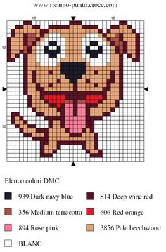 Dog hama perler pattern