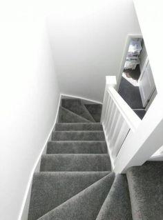 New Living Room Grey Carpet White Walls Ideas Grey Stair Carpet, Grey Carpet Hallway, Grey Carpet Living Room, Grey Hallway, White Carpet, Diy Carpet, Carpet Stairs, Patterned Carpet, Carpet Ideas