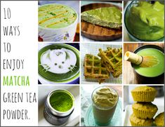 Matcha green tea recipes - Matcha is a delicious ingredient with a mild grassy green tea flavor. It is a great substitute for coffee if you crave energy and some even say that matcha Zens them out to a relaxed state! Healthy Drinks, Healthy Recipes, Healthy Meals, Vegetarian Recipes, Healthy Food, Matcha Health Benefits, Green Tea Ice Cream, Green Tea Recipes, Matcha Green Tea Powder