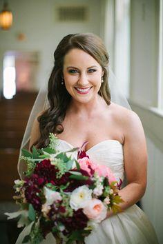 sweetheart gown + jewel tone bouquet | Paige Reaux #wedding