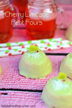 Cherry Limeade Petit Fours