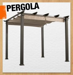 A pergola is a garden feature that is composed of a series of pillars and crossbeams that create a structure perfect for coaching vines or creating shade! #101