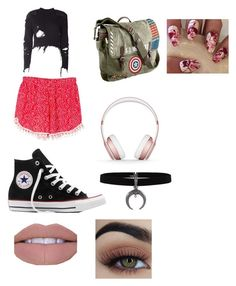Girls day 1 by de76ma06 on Polyvore featuring polyvore, ファッション, style, adidas Originals, WithChic, Converse, Marvel, Beats by Dr. Dre, fashion and clothing