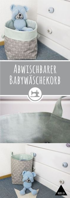 Abwischbarer Babywäschekorb - gratis DIY Anleitung & Schnittmuster The Effective Pictures We Offer You About diy purse makeover A quality picture can tell you many things. Sewing For Kids, Baby Sewing, Diy Purse Makeover, Fabric Basket Tutorial, Diy Bebe, Clothes Basket, Fabric Purses, Baby Kind, Sewing For Beginners