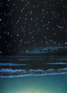 Kawase Hasui - Night Sea