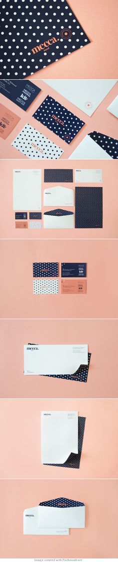 Polka dot stationery