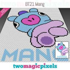Two Magic Pixels - Beautiful graphs for crochet, cross stitch and other crafts Happy Birthday Dragon, Toronto Blue Jays Logo, Baby Piglets, Elmer Fudd, Crochet Disney, Kids Blankets, Bobble Stitch, Crochet Cross, Yarn Brands