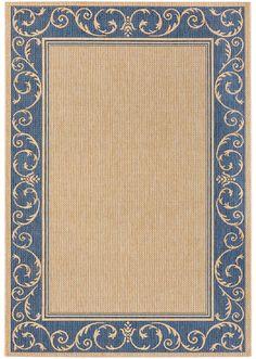 Jetzt anschauen: Gewebter Teppich mit Bordüre, pflegeleichtes Flachgewebe, auch…