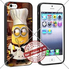 New Apple iPhone 4/4S Case Minions Chef Cool Cell Phone Case Shock-Absorbing TPU Cases Durable Bumper Cover Frame Black Lucky_case26 http://www.amazon.com/dp/B018KOQUYW/ref=cm_sw_r_pi_dp_E8-wwb177ABQS
