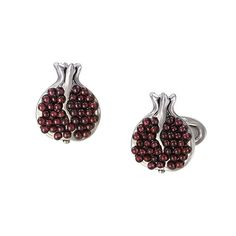 Jan Leslie Garnet Pomegranate Cufflinks