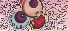 A Doodle A Day #249, ink on watercolor, 9/6/13