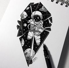 I can see a whole story behind this… – Tattoo Sketches & Tattoo Drawings Space Drawings, Cool Drawings, Kunst Tattoos, Body Art Tattoos, Space Tattoos, Stylo Art, Astronaut Tattoo, Astronaut Drawing, Desenho Tattoo