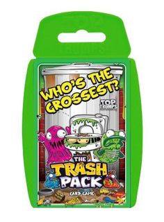 It's the Top Trumps pack you've BIN waiting for! Every kids favourite revolting rubbish gang, the Trash Pack are no longer just collectible character figures. These Trashies all have their own cruddy qualities to be compared and traded in this pack. Discover whether Rotten Apple is more gross than Trash-a-Pillar and who could be smellier than Bin Pig!   http://shop.winningmoves.co.uk/products/5036905020145-top-trumps-the-trash-pack.html