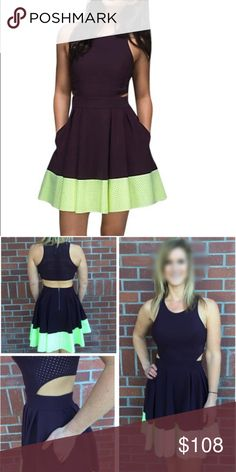 👗Lululemon Away Dress Gorgeous Dress bought for a Wedding but I never wore it. Size 4 brand new tags attached , awesome color combo. Has pockets. Dress up or down. 😍 lululemon athletica Dresses Backless