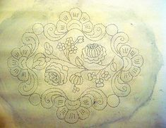 Hungarian Embroidery, Vintage Embroidery, Embroidery Transfers, Embroidery Patterns, Wreath Drawing, Vintage Jewelry Crafts, Blog Planner, Blogger Tips, Blogger Templates