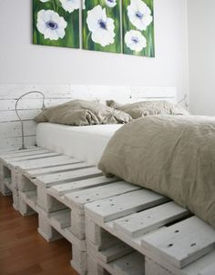 Another GREAT idea for a bed frame want to do this too