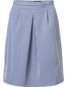 Purdey gestreepte rok blauw