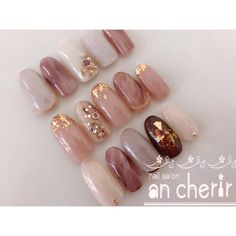 Pin by Aileen Dow on make-up and hair in 2020 Classy Nails, Cute Nails, Pretty Nails, Classy Nail Designs, Gel Nail Designs, Art Deco Nails, Natural Nail Art, Asian Nails, Gel Nails