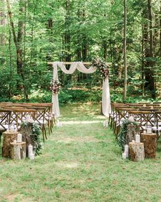 An Intimate Wedding party with the Bride-to-be's Family Home in Massachusetts WeddingVenues WeddingInspiration BackyardWeddings WeddingTrends Martha Stewart Weddings - A ROMANTIC Wedding ceremony at the Bride's HOUSE in Massachusetts Rustic Wedding Venues, Outdoor Wedding Decorations, Vintage Outdoor Weddings, Backdrop Wedding, Rustic Forest Wedding, Country Wedding Centerpieces, Rustic Wedding Alter, Hacienda Wedding, Vintage Country Weddings