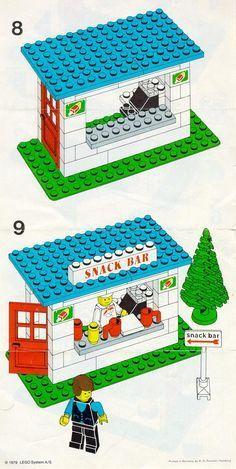 Lego Town - Snack Bar [Lego Shopping Tips For Rustic Log Beds The primary goal of this article Lego Duplo, Lego Ninjago, Legoland, Notice Lego, Lego Christmas, Lego Club, Lego Craft, Lego For Kids, Lego Blocks