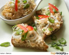 Voňavá pomazánka Baked Potato, Ham, Potato Salad, Food And Drink, Potatoes, Treats, Chicken, Baking, Ethnic Recipes