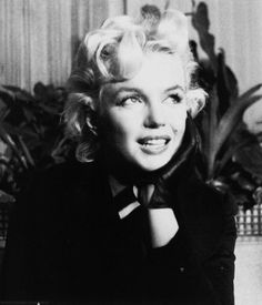 Marilyn at a press conference in 1956.
