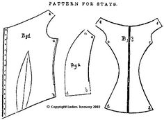 1853 Stays From Godeys - The Ladies Treasury of Costume and Fashion