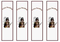 pirate printable bookmarks