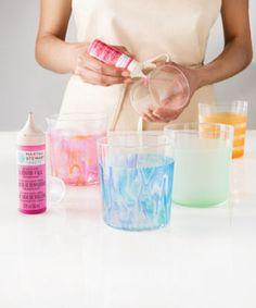 Marbleized Glass Tumblers