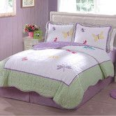 Found it at Wayfair Supply - Dragonfly Butterfly Quilt Set