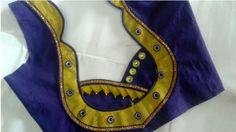 Top 50 Indian Saree Blouse Designs and Patterns - Style Your Wife Blouse Neck Models, Saree Blouse Neck Designs, Sari Blouse, Patch Work Blouse Designs, Simple Blouse Designs, Sleeves Designs For Dresses, Designer Blouse Patterns, Flower Embroidery Designs, Beautiful Blouses