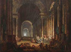H. Robert, la découverte du Laocoon, 1773