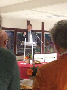 Mitros-directeur Kip met een optimistische boodschap tijdens de nieuwjaarsreceptie 2015