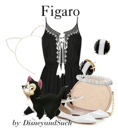 """""""Figaro"""" by disneyandsuch ❤ liked on Polyvore featuring Cara, Ally Fashion, Neiman Marcus, Disney, Kate Spade, disney, disneybound, Pinocchio and WhereIsMySuperSuit"""