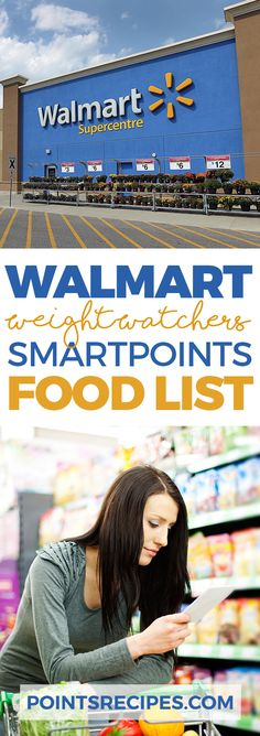 Weight Watchers SmartPoints Food List For Walmart Groceries
