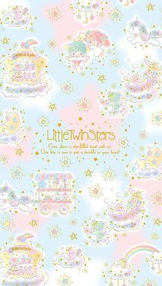 Little Twin Stars Sanrio Wallpaper, Star Wallpaper, Hello Kitty Wallpaper, Kawaii Wallpaper, Disney Wallpaper, Iphone Wallpaper, Kawaii Chibi, Kawaii Art, Little Twin Stars