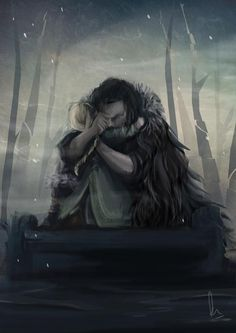 Snorri and Einmyria, from Prince of Fools, art by Pen Astridge
