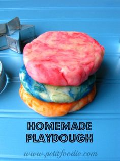 homemade playdough (without cream of tarter since I never have that handy)