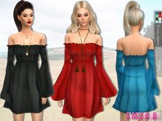 Boho dress by sims2fanbg at TSR via Sims 4 Updates