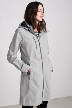 Buy Seasalt Coverack Coat Mainsail from the Next UK online shop Rain Collection, Waterproof Coat, Blue Coats, Sporty Style, Poplin, To My Daughter, My Style, Sleeves, Sweatshirts