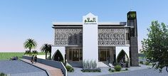 masjid modern - Google Search Architecture Board, Islamic Architecture, Contemporary Architecture, Islamic Center, Beautiful Mosques, Grand Mosque, Moorish, Around The Worlds, Exterior