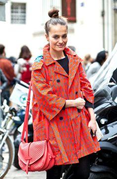 Cute coat. Love the bag!